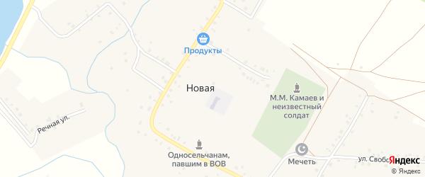 Заречная улица на карте Новой деревни с номерами домов