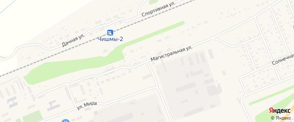 Коммунистическая улица на карте поселка Чишмы с номерами домов