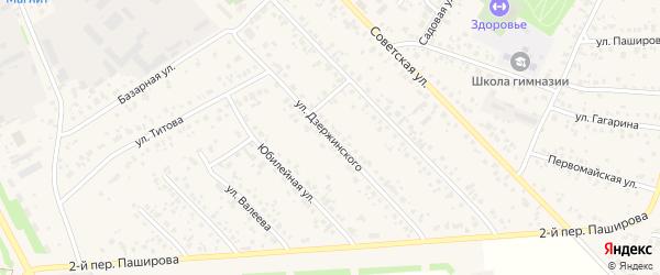 Улица Дзержинского на карте села Кушнаренково с номерами домов