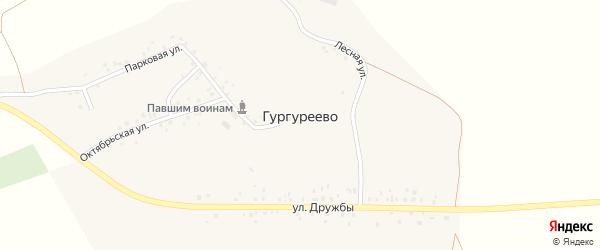 Октябрьская улица на карте деревни Гургуреево с номерами домов