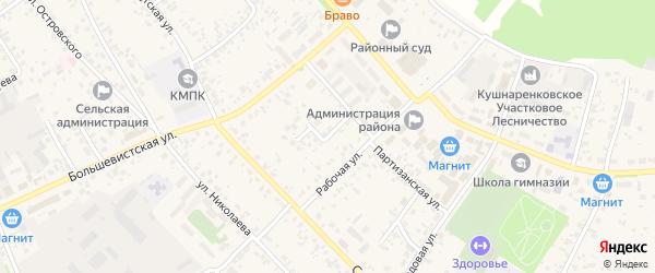Улица Мира на карте села Кушнаренково с номерами домов