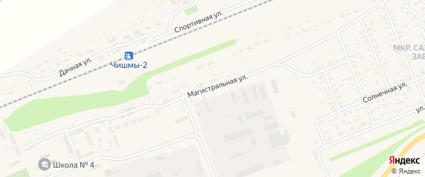 Магистральная улица на карте поселка Чишмы с номерами домов