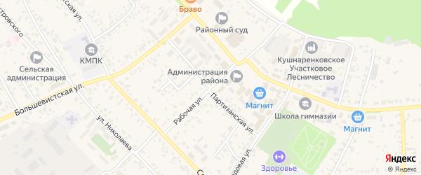 Партизанская улица на карте села Кушнаренково с номерами домов