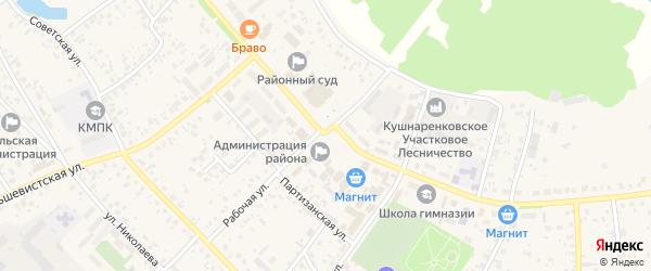 Заводской переулок на карте села Кушнаренково с номерами домов