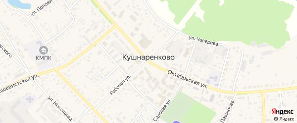 Весенняя улица на карте села Кушнаренково с номерами домов
