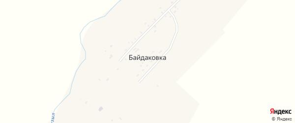 Центральная улица на карте села Байдаковки с номерами домов