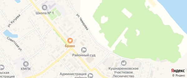 Улица Чеверева на карте села Кушнаренково с номерами домов