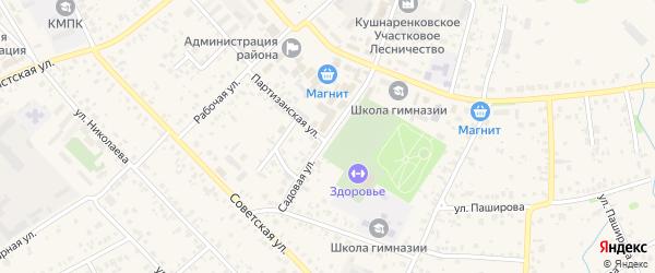 Садовая улица на карте села Кушнаренково с номерами домов