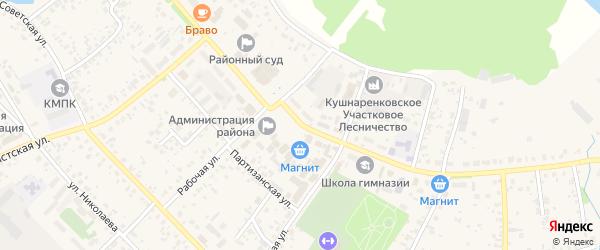 Октябрьская улица на карте села Кушнаренково с номерами домов
