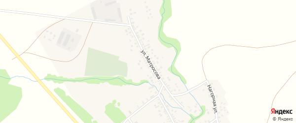 Улица Матросова на карте села Бакеево с номерами домов