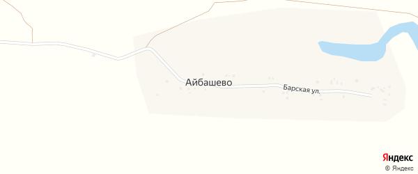 Барская улица на карте деревни Айбашево с номерами домов