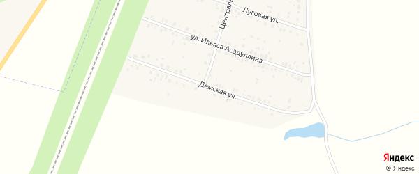 Демская улица на карте села Чишм с номерами домов