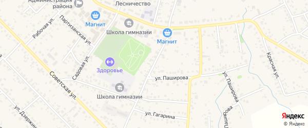 Паширова 1-й переулок на карте села Кушнаренково с номерами домов