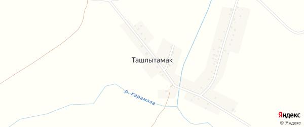 Школьный переулок на карте деревни Ташлытамака с номерами домов