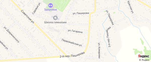 Улица Гагарина на карте села Кушнаренково с номерами домов