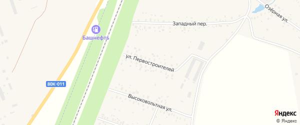 Улица Первостроителей на карте села Чишм с номерами домов