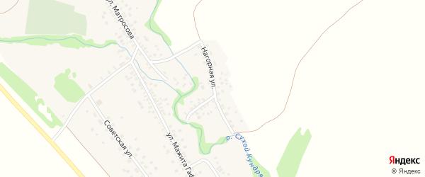 Нагорная улица на карте села Бакеево с номерами домов