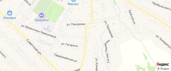 Паширова 2-й переулок на карте села Кушнаренково с номерами домов