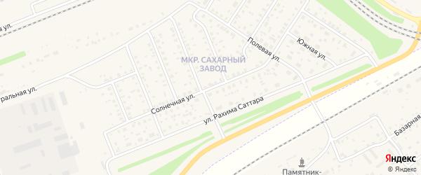 Улица Солнечная (1 кв-л) на карте поселка Чишмы с номерами домов