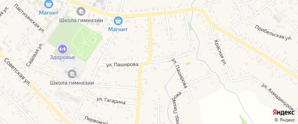 Улица Паширова на карте села Кушнаренково с номерами домов