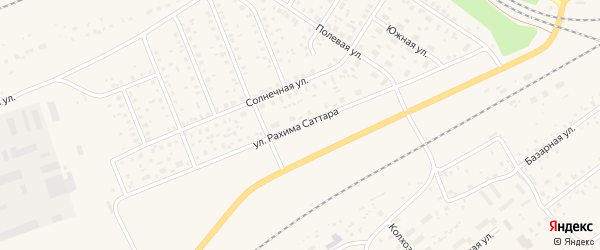 Улица Рахима Саттара на карте поселка Чишмы с номерами домов