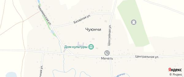 Чишминская улица на карте села Чуюнчи с номерами домов