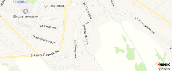Паширова 3-й переулок на карте села Кушнаренково с номерами домов