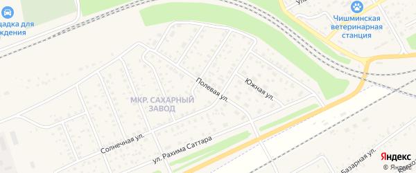 Полевая улица на карте поселка Чишмы с номерами домов
