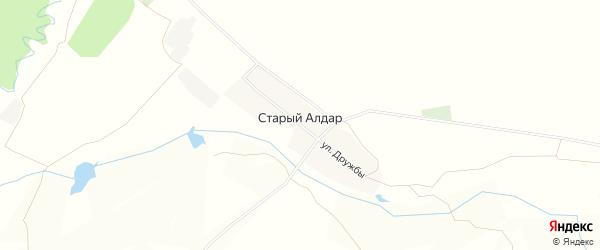 Карта деревни Старого Алдара в Башкортостане с улицами и номерами домов