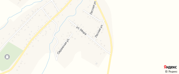 Улица Мира на карте села Куганакбаша с номерами домов