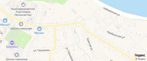 Октябрьской 1-й переулок на карте села Кушнаренково с номерами домов