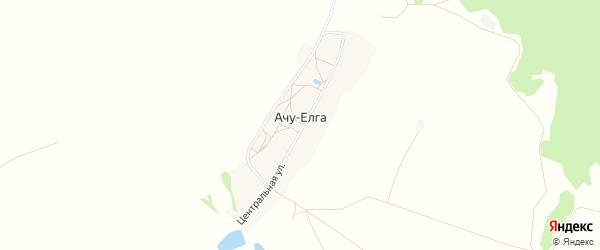 Карта деревни Ачу-Елги в Башкортостане с улицами и номерами домов