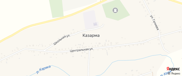 Казарма Колония-поселение 5 на карте Уфы с номерами домов