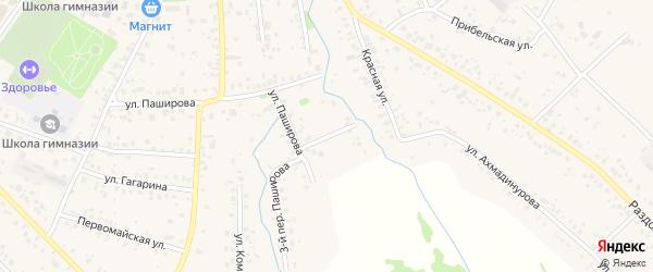 Зелёная улица на карте села Кушнаренково с номерами домов