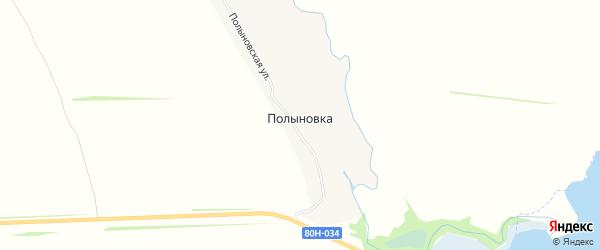 Карта деревни Полыновки в Башкортостане с улицами и номерами домов
