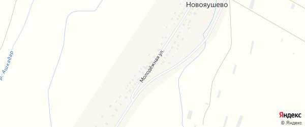 Молодежная улица на карте села Новояушево с номерами домов
