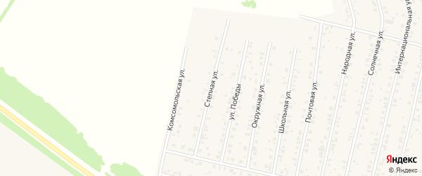 Степная улица на карте села Тарабердино с номерами домов