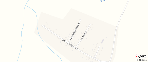 Ашкадарская улица на карте села Новояушево с номерами домов
