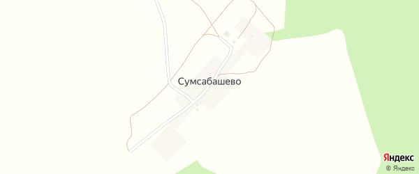 Лесная улица на карте деревни Сумсабашево с номерами домов