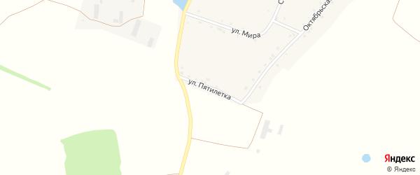 Улица Пятилетки на карте села Кусекеево с номерами домов