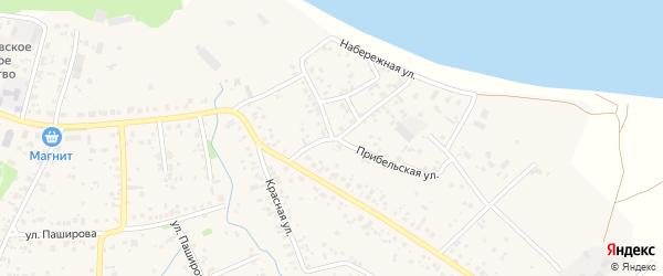 Набережная улица на карте села Кушнаренково с номерами домов