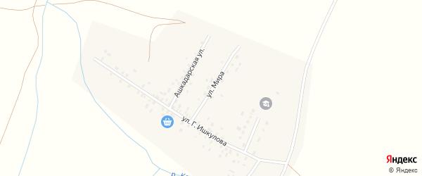 Улица Мира на карте села Новояушево с номерами домов