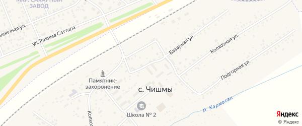 Базарная улица на карте села Чишм с номерами домов