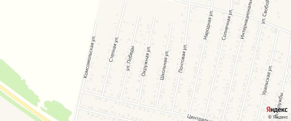 Окружная улица на карте села Тарабердино с номерами домов