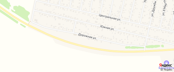 Дорожная улица на карте села Тарабердино с номерами домов