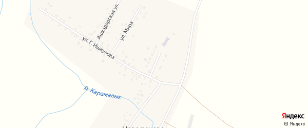 Школьная улица на карте села Новояушево с номерами домов