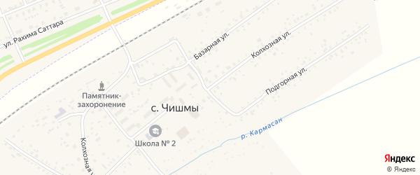 Колхозная улица на карте села Чишм с номерами домов