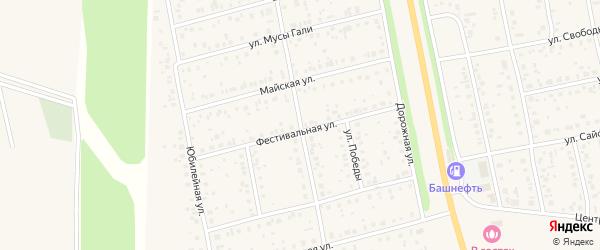 Улица Победы на карте поселка Чишмы с номерами домов