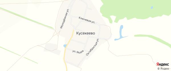 Карта села Кусекеево в Башкортостане с улицами и номерами домов