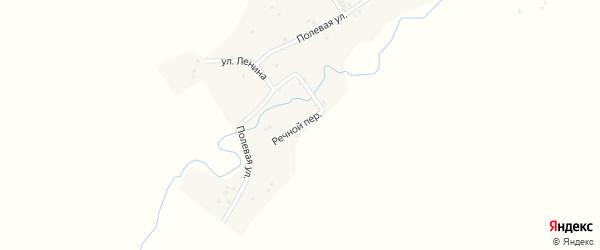 Речной переулок на карте деревни Токтарово с номерами домов